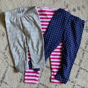 3 pairs of baby leggings (9-12 months)